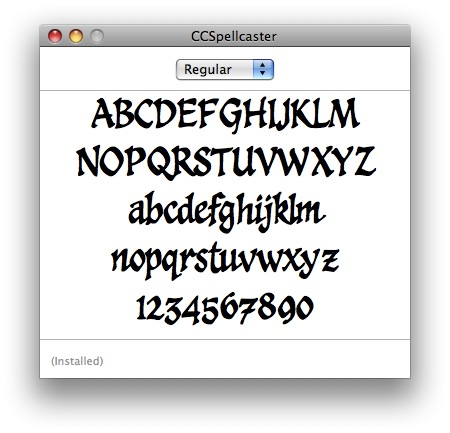 Spellcaster typeface