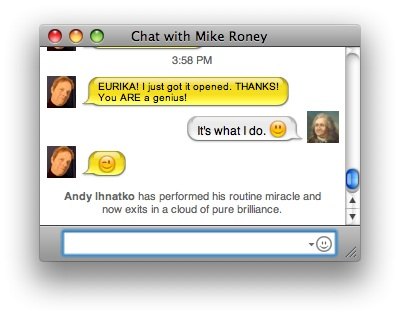 iChat screen capture