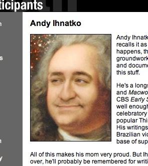 My CWA bio page snapshot