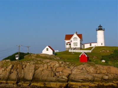 Nubble Light in York Beach, Maine.