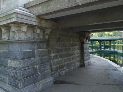 Photo of bridge abutment.