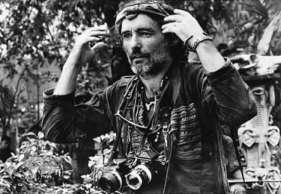 "Dennis Hopper in ""Apocalypse Now"" - Photographer wearing multiple cameras."