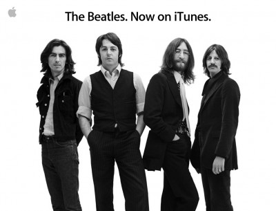 Beatles image on the front page of Apple.com.