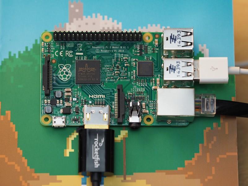 The Raspberry Pi 2.