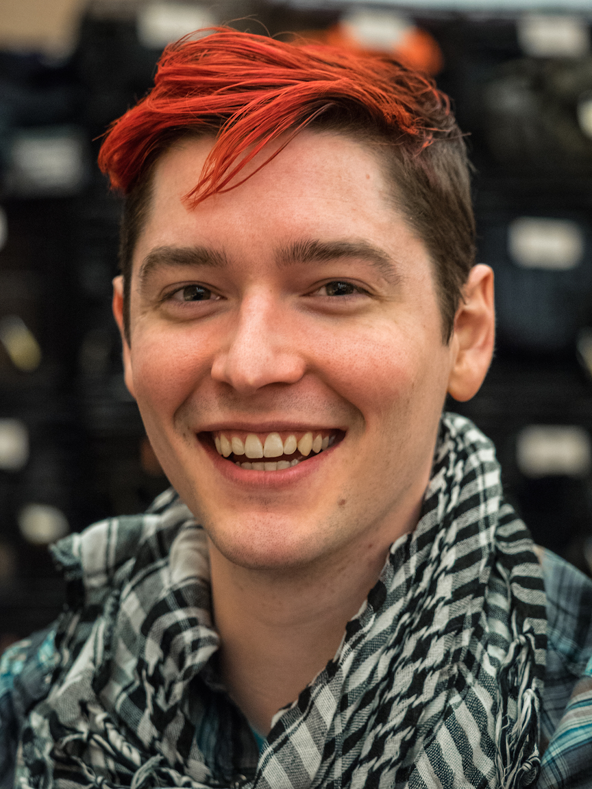 Chad Johnson, aka OMGChad, at PAX east. Bon vivant and all-around good egg.